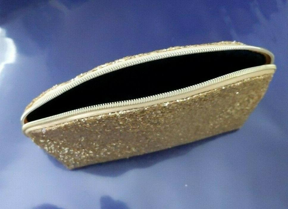 Lot Estee Cosmetic Gold case bag size 7.5-5-2