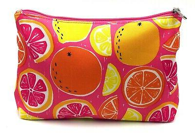 Lot of Makeup with Citrus Fruit Print