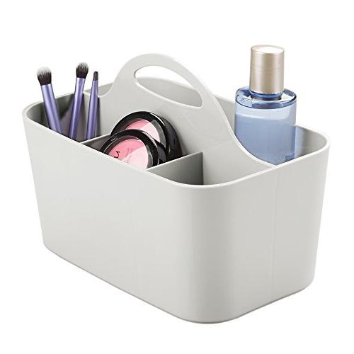 Mdesign Plastic Portable Makeup Organizer Caddy Tote Divided