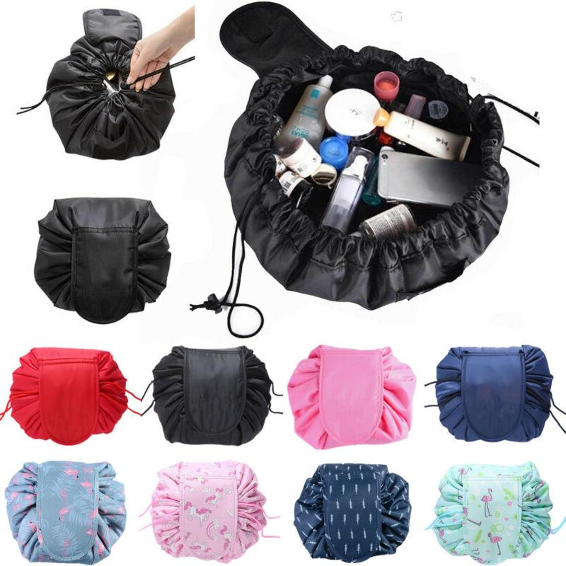 magic travel pouch drawstring lazy portable cosmetic