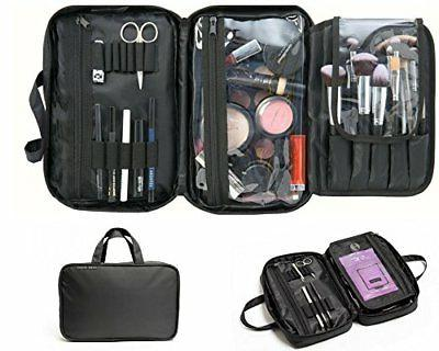 Makeup Bag & Cosmetic Travelling Organizer. Divided Compartm