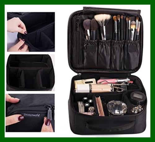 ROWNYEON Makeup Bag Case Organizer/Mini Train 9.8'' Beauty