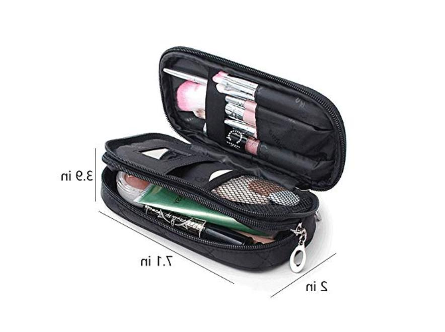 Makeup Bag for Women With Mirror, Travel Kit, Pouch Bag, Mak