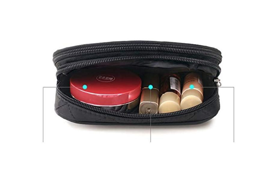 Makeup Women With Mirror, Pouch Brush Bag