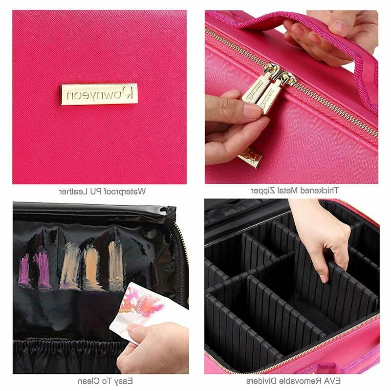 ROWNYEON Travel Cosmetic Case Professional Makeup