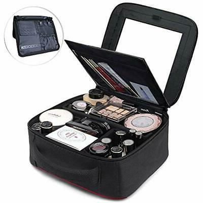 makeup train cases bag quick with mirror