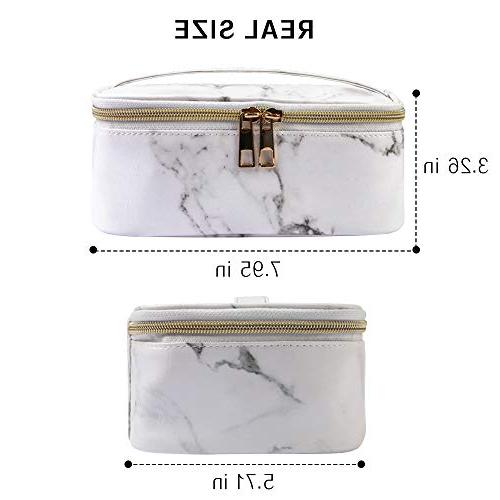 MAGEFY Portable Organizer Multifunction Case with Gold Zipper for Woman
