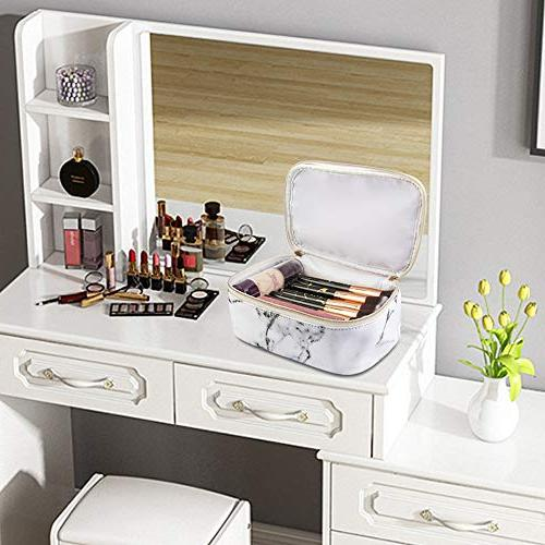 MAGEFY Marble Portable Organizer Gold Bag for
