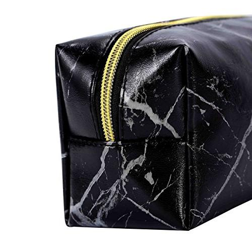 HOYOFO Makeup Accessories Bags Brush Purse, Marble