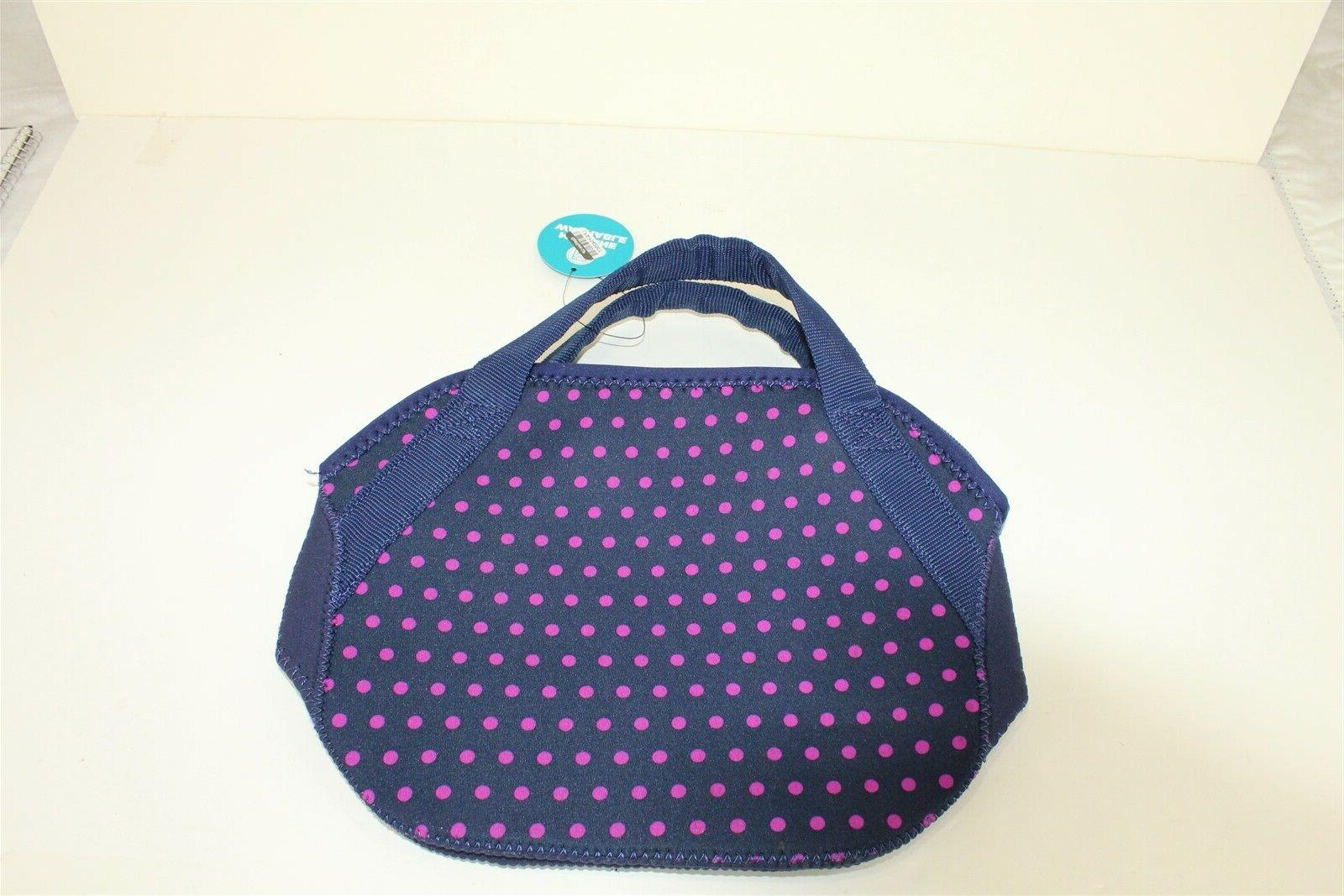 Midtown Bag Blue with Polka 8.5 x x 5.5