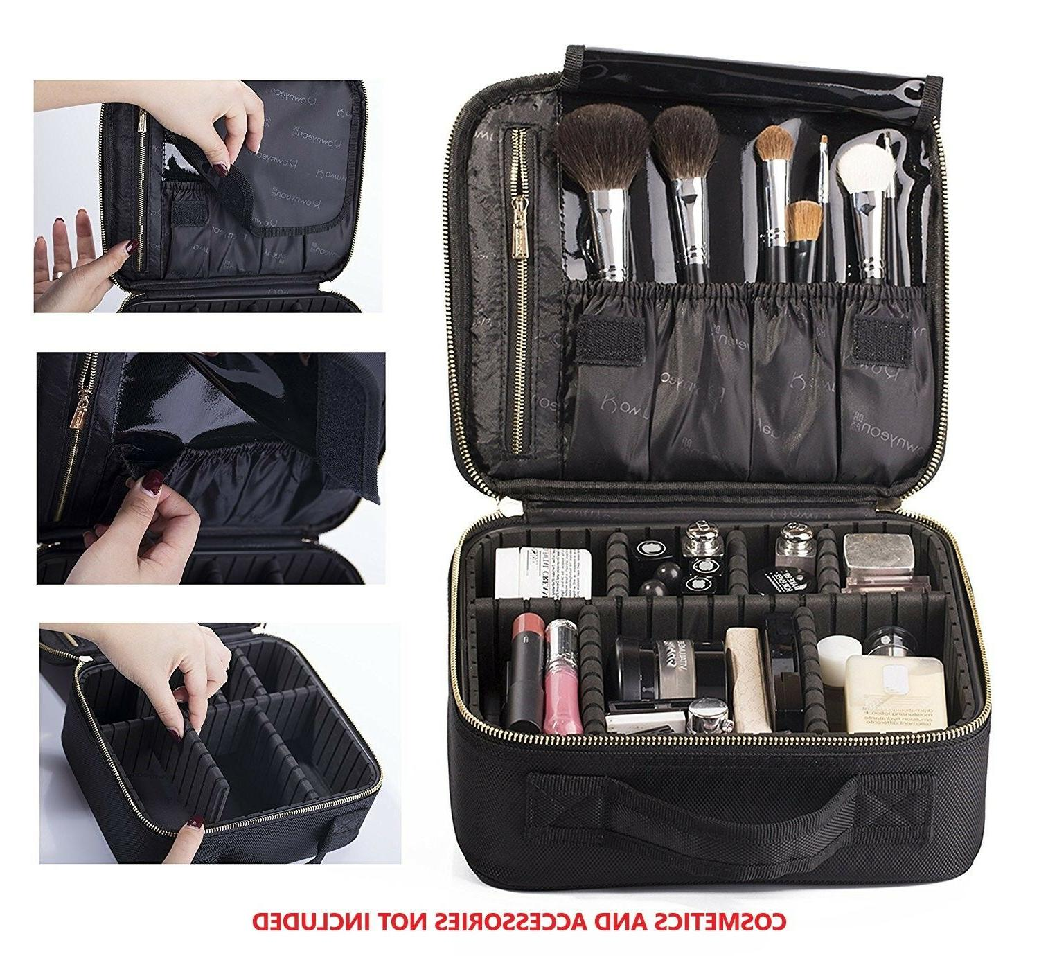 Rownyeon Mini Makeup Travel Bag Organizer Professional Make Up