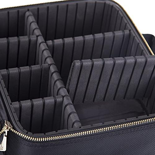 ROWNYEON Portable Bag Makeup Bag/Makeup Train EVA Organizer Case