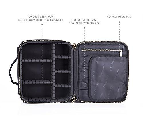 Bag Train Case/Portable EVA Makeup Organizer Case