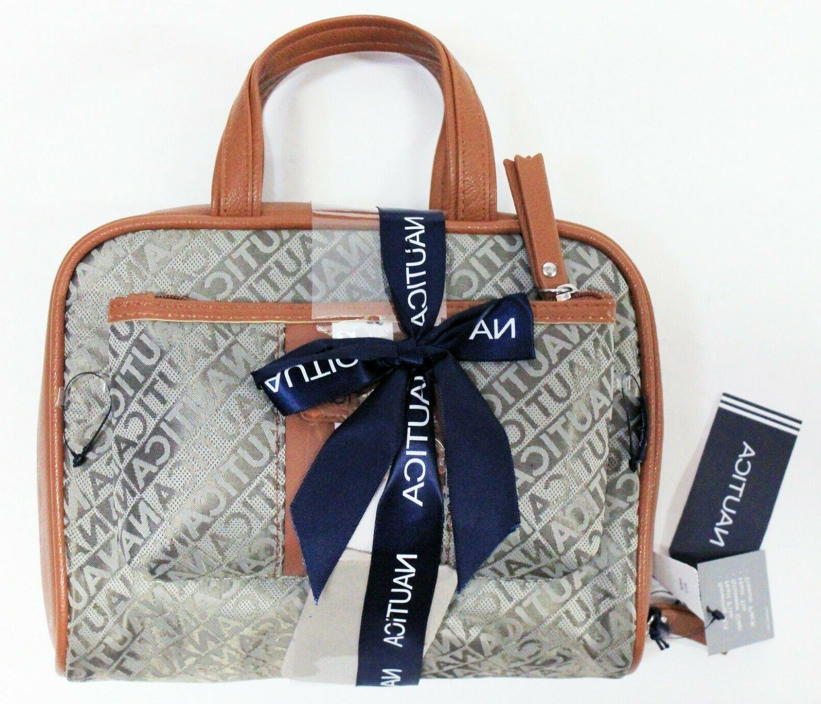 new 2 pc overnight cosmetic travel bag