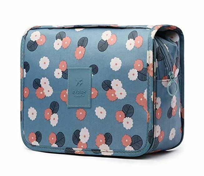 new daisy mint hanging travel toiletry makeup