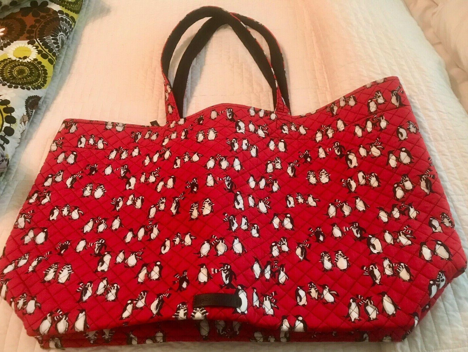1e2f02c4d NWT Vera Bradley Iconic Grand Tote Bag in Playful Penguins R