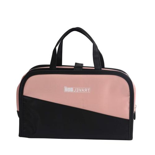 pink makeup and cosmetic bags hanging toiletry