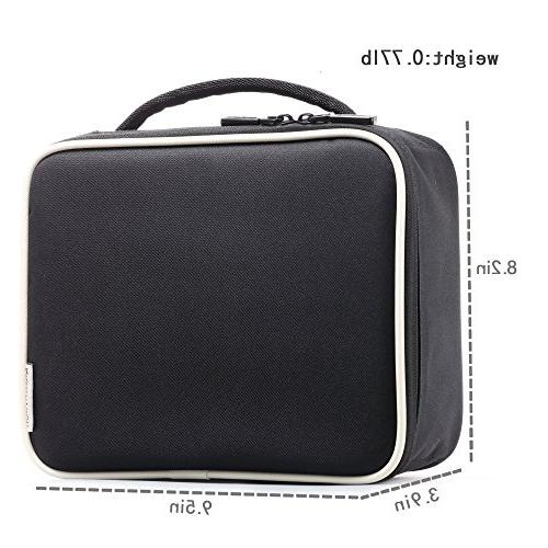 ROWNYEON Travel Bag Makeup Mini Makeup Train Case 9.5''