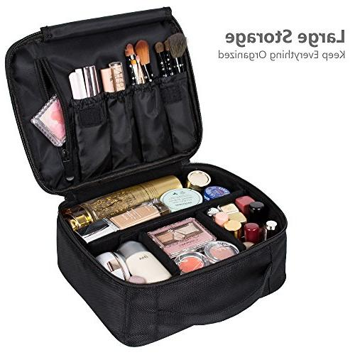 DreamGenius Makeup Bag with Large Adjustable