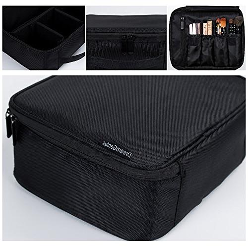 DreamGenius Makeup Bag with Large Adjustable Dividers