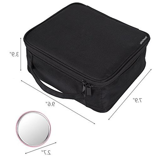 DreamGenius Portable Bag Makeup Case with Large Capacity and Adjustable