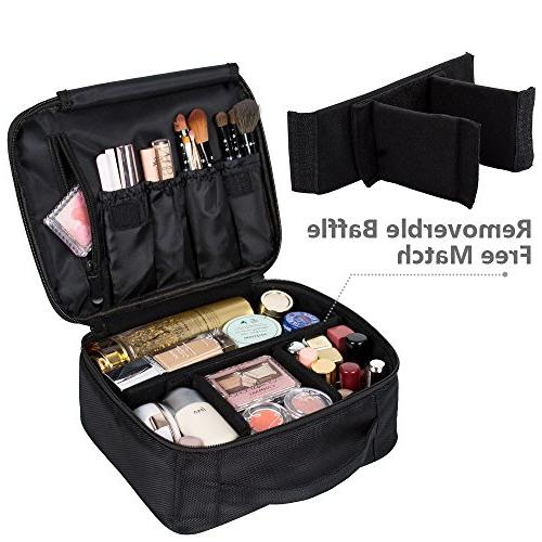 DreamGenius Portable Bag Makeup Organizer with Large Adjustable