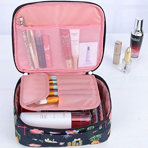 Travel Makeup bags Case Bag Make up Brushes Toiletry Black