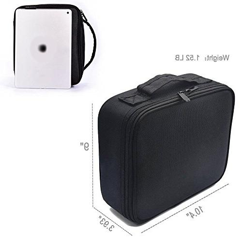 Portable Train Case Pcs for Cosmetic Brushes Jewelry