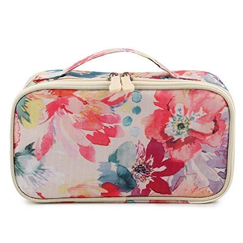 9b01cad4b857 HOYOFO Portable Cosmetic Bags Traveling Makeup and Toiletry