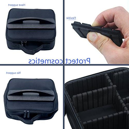 Portable Makeup 9 Organizer EVA for Makeup Jewelry, Toiletry, Travel with