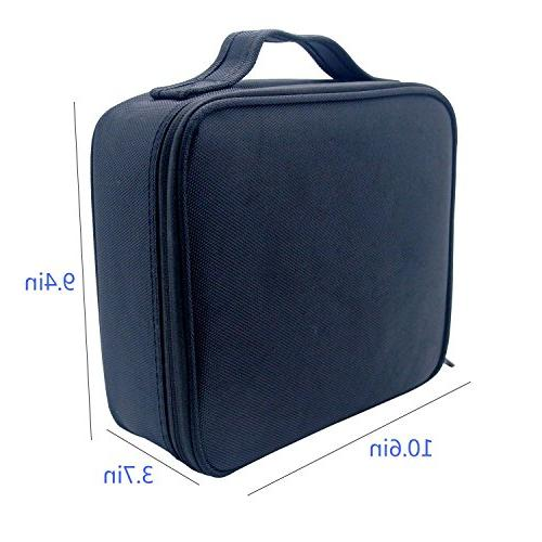 Portable Case Chomeiu 9 Inch for Brush, Jewelry, Toiletry, Accessories with Removable Adjustable