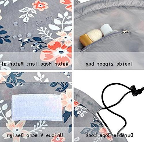 Portable Bag Large Lazy Travel Makeup Bag for Womens Gray