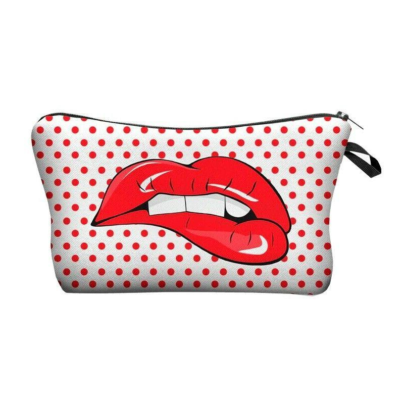Jom Tokoy Printing Makeup Bags With Multicolor Pattern Cute