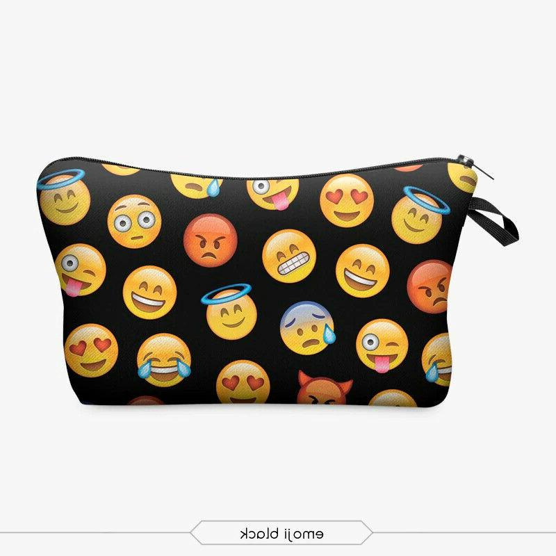 printing makeup bags with multicolor pattern cute