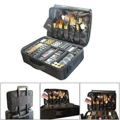 pro cosmetic makeup case travel large capacity