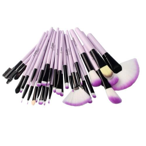 Profession 32pcs Purple Beauty Makeup Brushes Accessories Kit Tool