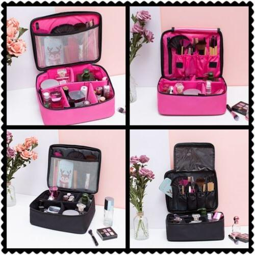 Professional Large Makeup Bag Cosmetic Case Storage Handle O