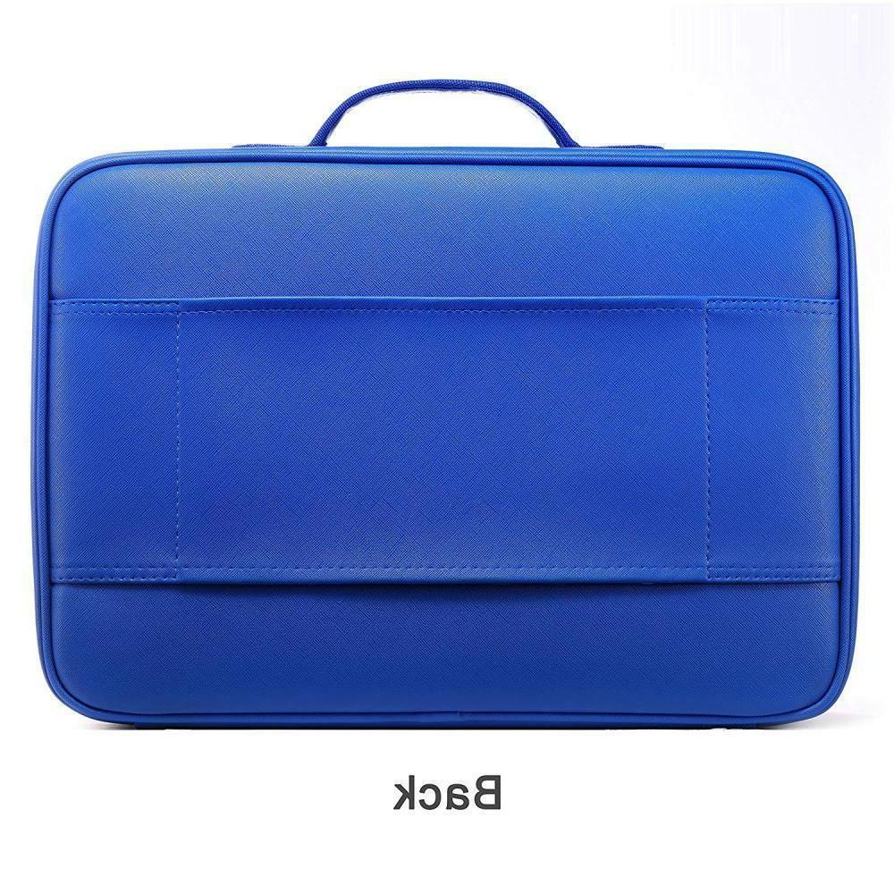 "ROWNYEON Professional Bag Portable BLUE Case 14.1"" MEDIUM"