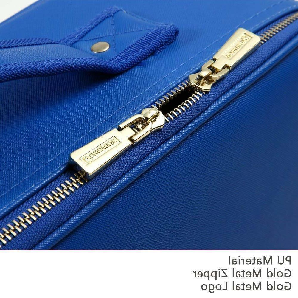 ROWNYEON Makeup Portable Makeup BLUE Case