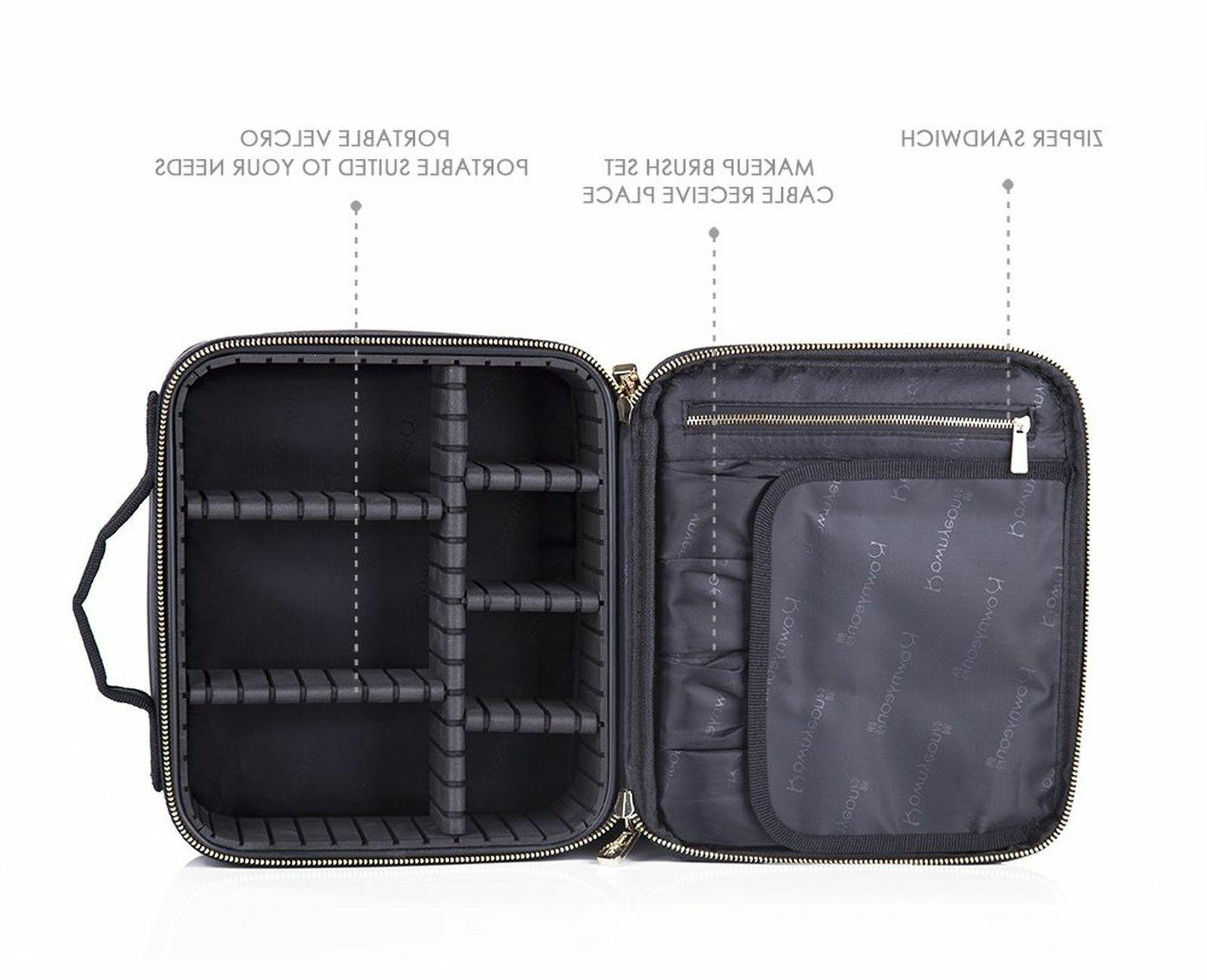 ROWNYEON Professional Train Case/Travel Hard Case/Makeup Bag