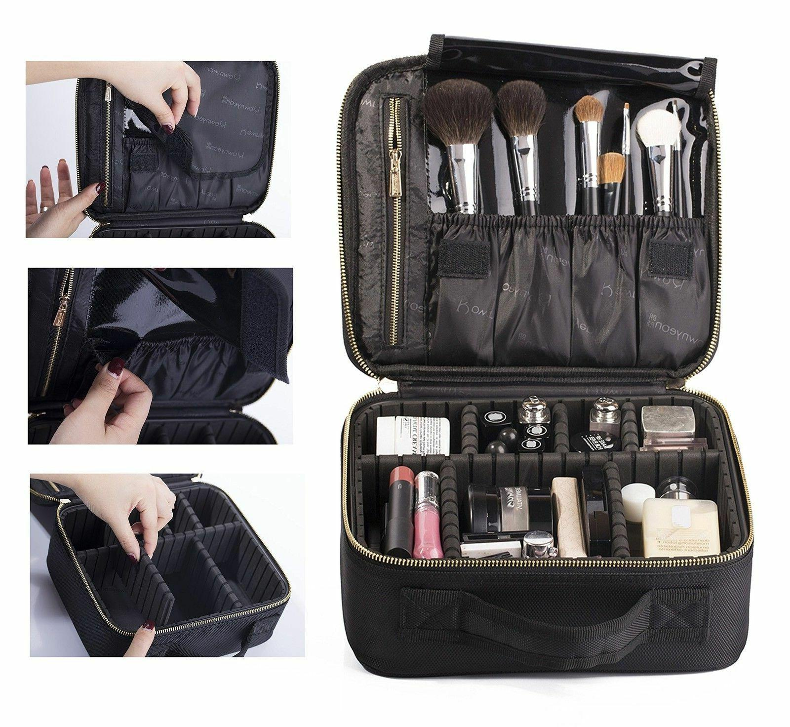 professional makeup train case travel hard case
