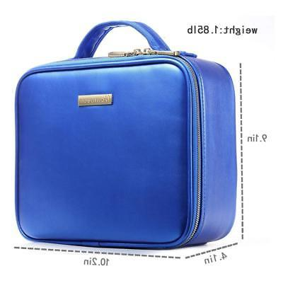 ROWNYEON PU Leather Case Travel Train Case