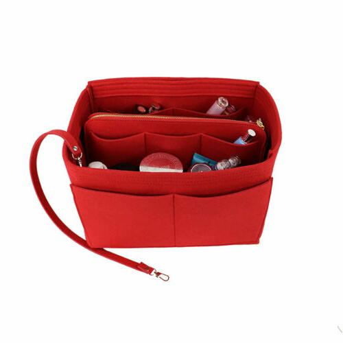 Purse Insert Makeup Cosmetic Handbag With