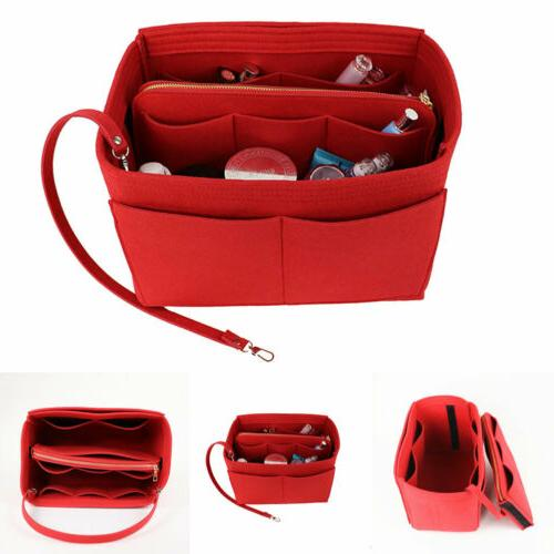 Purse Insert Makeup Cosmetic Handbag Bag With