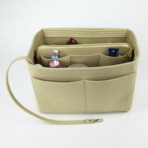 Purse Insert Handbag Felt Bag Organizer With
