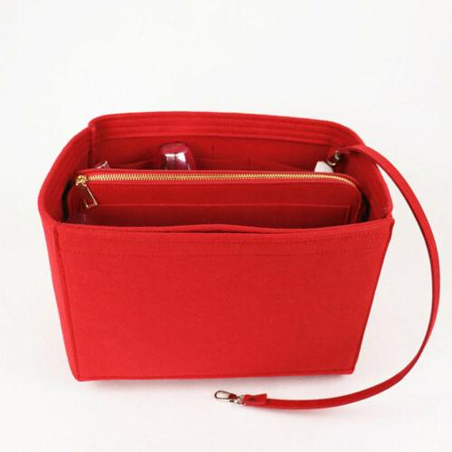 Purse Insert Makeup Cosmetic Handbag Bag With Zipper Tote