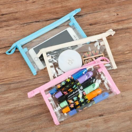 PVC Woman Pouch Cosmetic Bag Clear Toiletry Holder