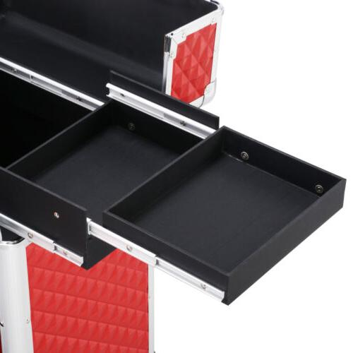Rolling Train Case Professional Vanity Organizer