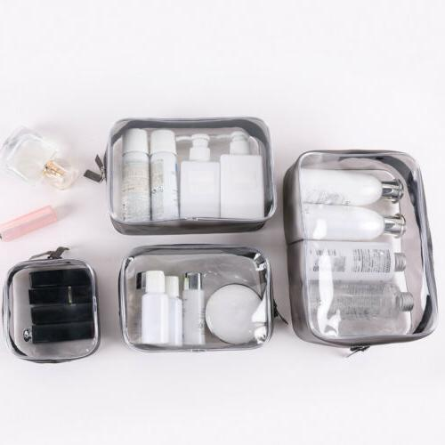 3/4 PVC Clear Cosmetic Makeup Toiletry Bag Case Travel Holde