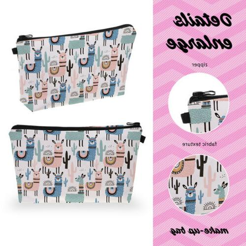 Sloth Pattern Small Wallet Purse Cosmetic Travel Makeup Bag H1